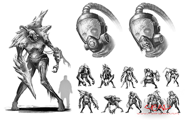 Boss Concept Sketches