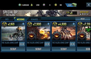 UI/UX War Commander Panels